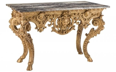 61080: A Continental Baroque-Style Carved Giltwood Cons