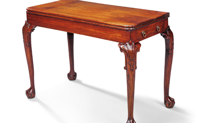 A CHINESE EXPORT ROSEWOOD CARD-TABLE, MID-18TH CENTURY