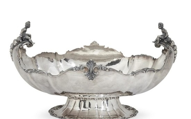 A Continental silver centerpiece First half 20th century Stamped...