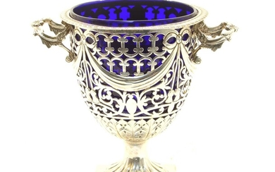 A George VI silver bonbonniere in the form of an urn