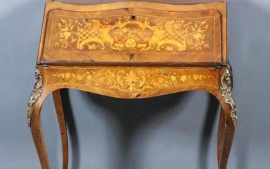 A Late 19th Century Lady's French Kingwood, Marquetry and...