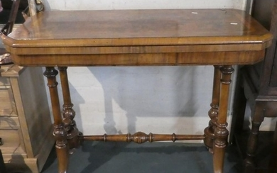 A Mid 19th Century Mahogany Lift and Twist Games Table with ...