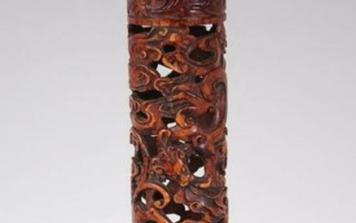 A RARE 18TH CENTURY CHINESE BAMBOO JOSS STICK HOLDER /