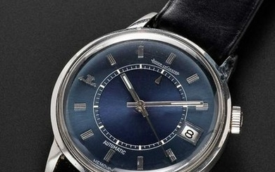 A RARE GENTLEMAN'S STAINLESS STEEL JAEGER LECOULTRE