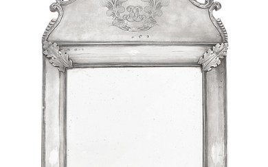 A WILLIAM AND MARY SILVER DRESSING TABLE MIRROR, LONDON, 1690, MAKER'S MARK WI, STAR BELOW
