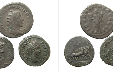 A group of 3 Roman silver coins