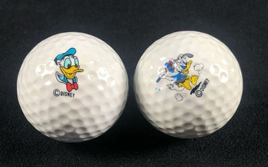 A lot of 2 Vintage Donald Duck Golf Balls Pro