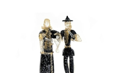 A pair of Murano sculptures