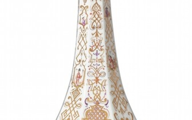 A rare and finely decorated Meissen porcelain sake bottle