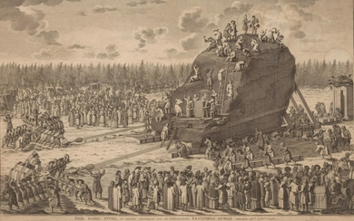 AFTER YURY FELTEN, View of the Thunder Stone during its move in the presence of Catherine the Great on 20 January 1770