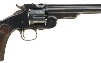AN OBSOLETE CALIBRE .44 S&W RUSSIAN SIX-SHOT SMITH AND