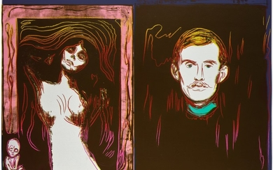 ANDY WARHOL | MADONNA AND SELF-PORTRAIT WITH SKELETON'S ARM (AFTER MUNCH) (SEE F. & S. IIIA.62)