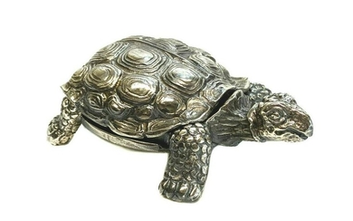 Agma Sterling Silver Tortoise Figurine / Ring Box