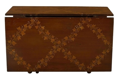 American Colonial style painted walnut drop-leaf table