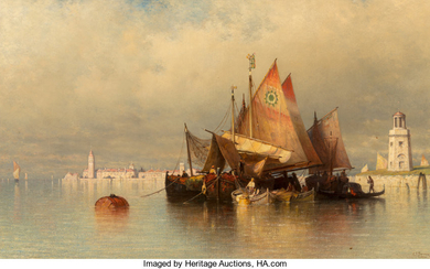 Andrew Fisher Bunner (1841-1897), Looking Off from Venice towards San Lazzaro