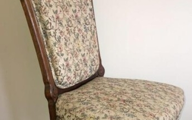 Antique American Victorian Upholstered Side Chair