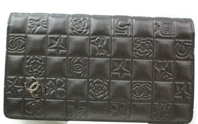 Authentic CHANEL Leather Long Wallet
