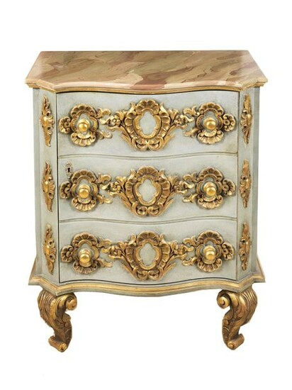 Baroque style chest of drawers