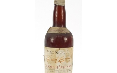 Bottle of Mac Nicol's Special Liqueur Scotch Whiskey