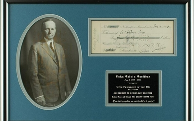 Calvin Coolidge Signed Check