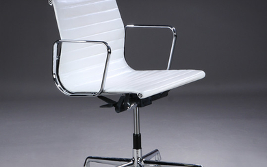 Charles Eames. Office chair in white, model EA-117, 'Full Leather'