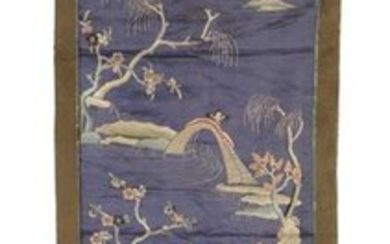 Chinese Embroidered Panel, 19th Century