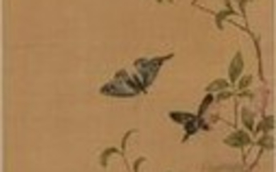 Chinese Painting of Butterflies by Yun Bing