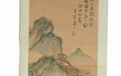 Chinese ink on silk painting. Probably, republic period.