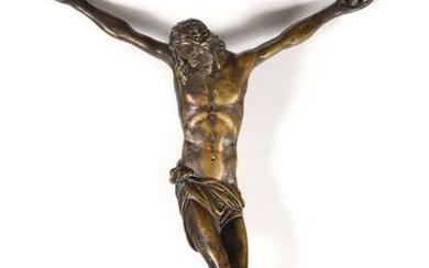 Christ in silvery bronze Italian School of the 17th century Height 22 cm