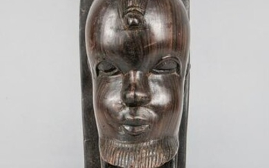 Collectible African Wood Wall Hanging Figure