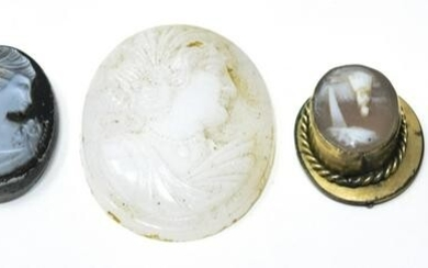 Collection 19th C Antique & Vintage Jewelry Cameos