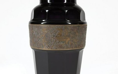 Continental Bronze-Mounted Amethyst Glass Vase