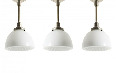 Czecho Slovakia, Three ceiling lights, 1930s