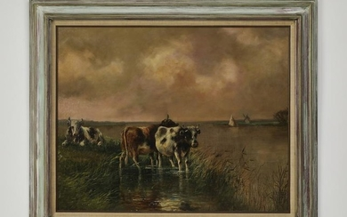 Early 20th c. Continental School pastoral landscape