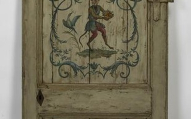 Early 20th c. Continental paint decorated door panel