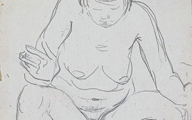 FEMALE NUDITY STUDY HIGH-PITCHED Pencil drawing on paper...