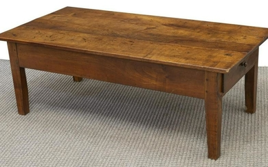 FRENCH PROVINCIAL WALNUT COFFEE TABLE, 19TH C.