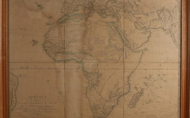 Four 19th century maps.&#160 Paper on linen.&#160