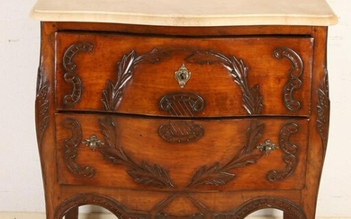 French Louis Quinze style walnut chest of drawers with