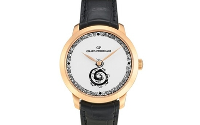 GIRARD-PERREGAUX | 1966, REFERENCE 49534 A LIMITED EDITION PINK GOLD WRISTWATCH WITH ENAMEL DIAL, CIRCA 2012