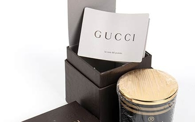 GUCCI 'GUCCISSIMA' CANDLE 2015 ca Guccissima Candle (brown glass) with...