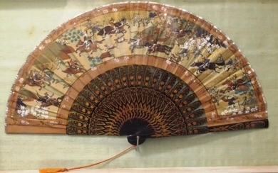 Good Chinese framed hand painted fan hand painted decoration...