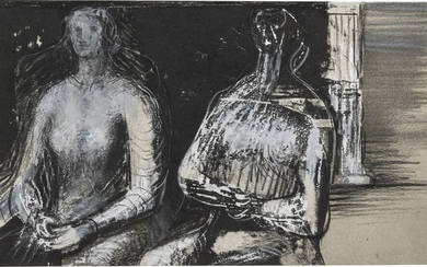 HENRY MOORE | TWO SEATED WOMEN