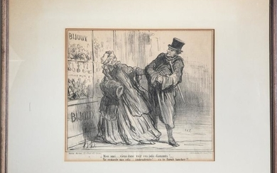 Honore Daumier Lithographs on Paper, 2