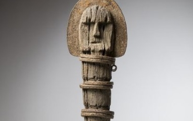 """IGBO, Nigeria. Statuary without arms, """"ofo"""" sculptures play..."""