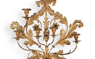 Italian Gilt Candle Holding Sconce