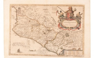 Jansson map of New Spain 1640