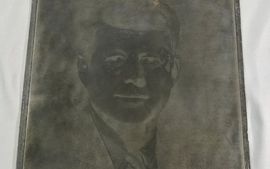 John F Kennedy Engraving Plate -Boston Fabian Bachrach