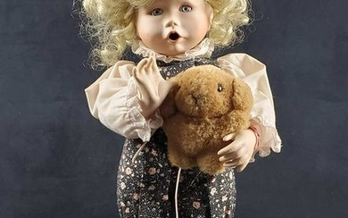 Knowles Boo Bear And Me Porcelain Doll 1991 by Jan