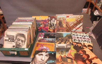 Large collection of vinyl long playing records including Jim...